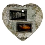 Neutral shadow frame 2 side Heart ornament - Heart Ornament (Two Sides)