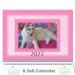 Pink Princess 2019 (any Year)Calendar 8.5x6 - Wall Calendar 8.5  x 6