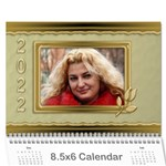 Formal Elegant (any Year) 2019 Calendar 8.5x6 - Wall Calendar 8.5  x 6