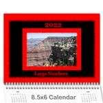 All Framed 2019 LARGE NUMBERS Calendar 8.5x6 - Wall Calendar 8.5  x 6