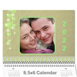 Subtle Hearts 2019  (any Year) Calendar 8.5x6 - Wall Calendar 8.5  x 6