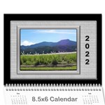 Framed in Silver 2019 (any Year) Calendar 8.5x6 - Wall Calendar 8.5  x 6