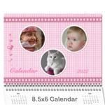 Happy Pink 2019 (any Year) Calindar 8.5x6 - Wall Calendar 8.5  x 6