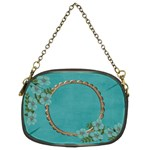 Chain Purse (Two Sides): Blue Flowers