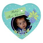 Baby s first Christmas - Heart Ornament (Two Sides)