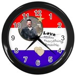 Military Love Clock - Wall Clock (Black)