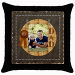 Number One Dad Throw Pillow Case - Throw Pillow Case (Black)