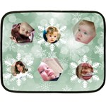 Ice Green Snowflake Mini Blanket - Fleece Blanket (Mini)