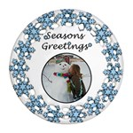 Seasons Greetings - Ornament (Round Filigree)