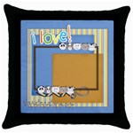 throw pillow case - little guy - Throw Pillow Case (Black)