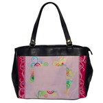 Pink Swirl - Oversize Office Handbag