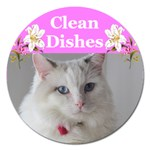 Heathers clean dishes 2 - Magnet 5  (Round)