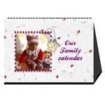 Our Family desktop calendar white - Desktop Calendar 8.5  x 6