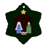 Nativity Snowflake Ornament - Snowflake Ornament (Two Sides)