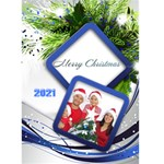 Blue and Silver Christmas 2016 (5x7) card - Greeting Card 5  x 7