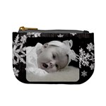 mini coin purse black snowflakes