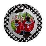 Soccer/football - round ornament (1 side) - Ornament (Round)