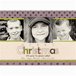 Purple/Pink Christmas Card - 5  x 7  Photo Cards