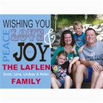 Holiday Card Blue - 5  x 7  Photo Cards