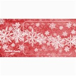 8x4 Photo Greeting Card red snowflakes - 4  x 8  Photo Cards