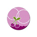 Cherry Round coaster 04 - Rubber Coaster (Round)