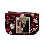 hearts and white roses change purse - Mini Coin Purse