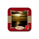 Tropical Vacation Coaster 4 - Rubber Coaster (Square)