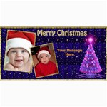Deep Blue Christmas 4x8 Photo Card - 4  x 8  Photo Cards