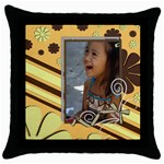 throw pillow 8 - Throw Pillow Case (Black)