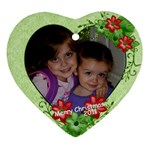 orn 2011 both girls - Ornament (Heart)