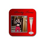 Party Time Coaster - Rubber Coaster (Square)