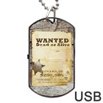 Cowboy´s party Tag USB 2 sides - Dog Tag USB Flash (Two Sides)
