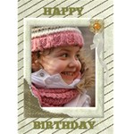 Light gold Birthday (any Occasion) Card 5x7 - Greeting Card 5  x 7