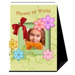flower worlds - Desktop Calendar 6  x 8.5