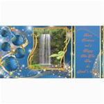 Frosted bauble Christmas Photo Card (4x8) Midnight blue - 4  x 8  Photo Cards