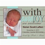 Welcome Baby! - 5  x 7  Photo Cards