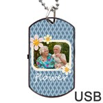 flower - Dog Tag USB Flash (One Side)
