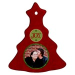 Red Joy Ornament - Christmas Tree Ornament (Two Sides)
