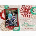 Flower Christmas Card - 5  x 7  Photo Cards