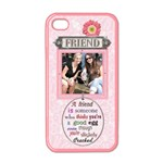 Friend Apple iPhone 4 Case (Pink) - iPhone 4 Case (Color)