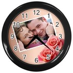 Postcard clock - Wall Clock (Black)