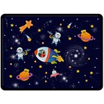 Rocket Man Extra Large Fleece Blanket - Fleece Blanket (Large)