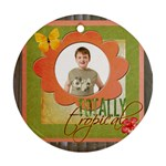 Totally tropical single sided ornament - Ornament (Round)
