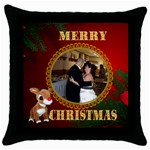 Rudolph Christmas pillow - Throw Pillow Case (Black)