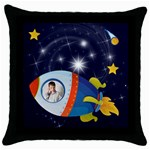 Rocket Man Pillow 2 - Throw Pillow Case (Black)