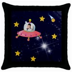 Rocket Man Pillow 4 - Throw Pillow Case (Black)