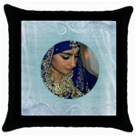 Marina Pillow 1 - Throw Pillow Case (Black)