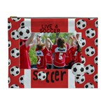 Live 4 Soccer/football- Cosmetic Bag (XL)