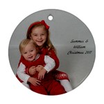 Summer and William Round Ornament - Ornament (Round)
