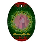 Family Christmas Ornament - Oval Ornament (Two Sides)